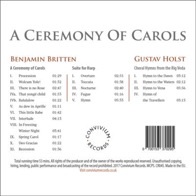A Ceremony Of Carols Rear