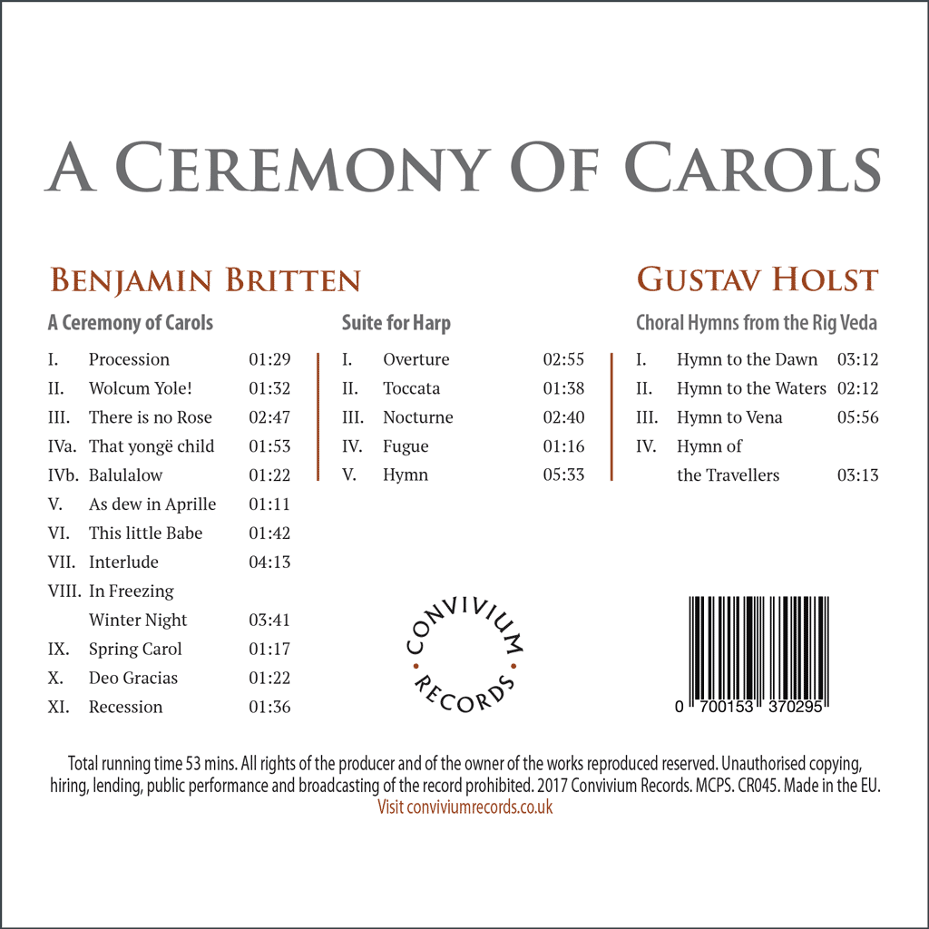 A Ceremony Of Carols Rear